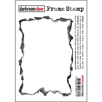 Darkroom Door Cling Stamp BURNT EDGE Frame ddfr033
