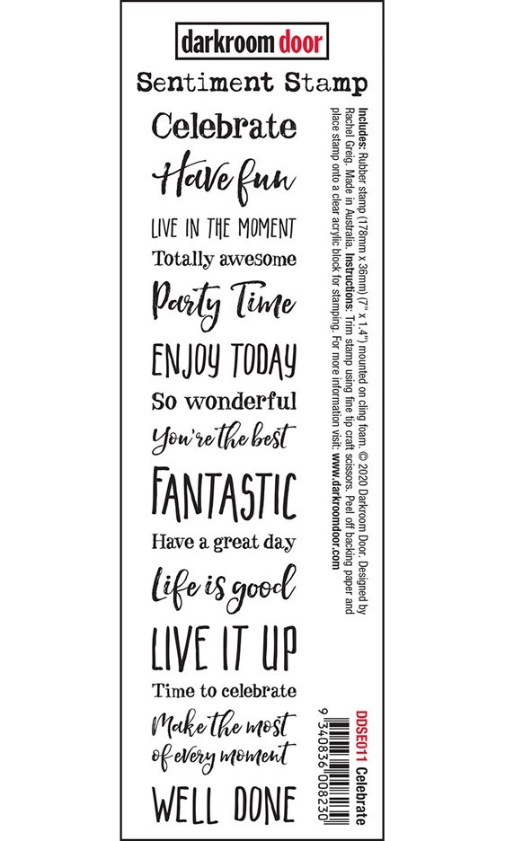 Darkroom Door Cling Stamp CELEBRATE Sentiment ddse011 zoom image