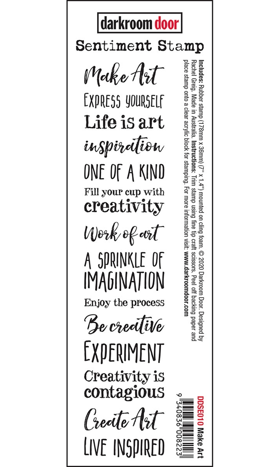 Darkroom Door Cling Stamp MAKE ART Sentiment ddse010 zoom image