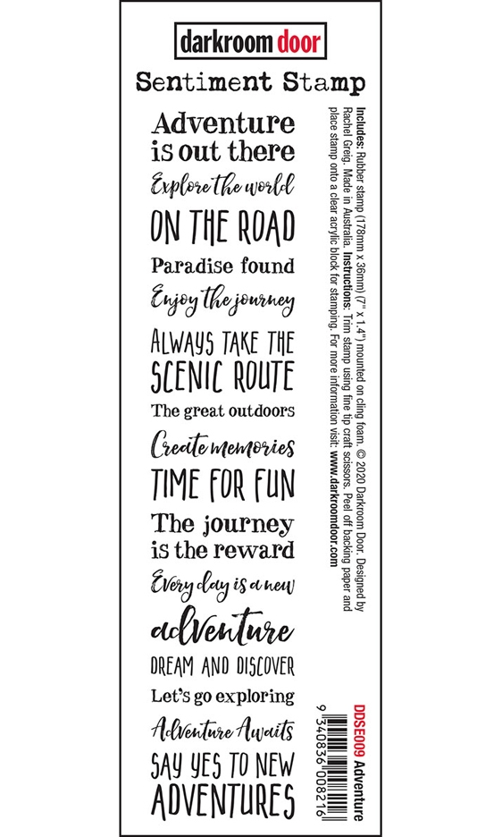 Darkroom Door Cling Stamp ADVENTURE Sentiment ddse009 zoom image