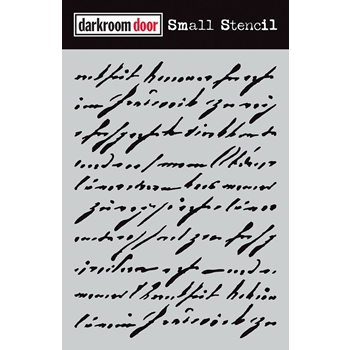 Darkroom Door HANDWRITTEN SCRIPT Small Stencil ddss038