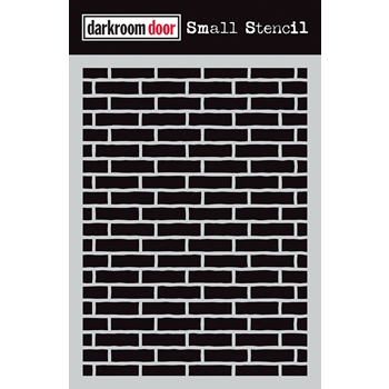 Darkroom Door BRICK WALL Small Stencil ddss037