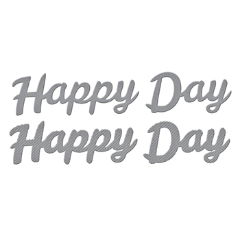 S3 395 Spellbinders BOLD TYPE HAPPY DAY Etched Dies*