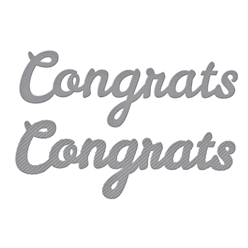 S3-394 Spellbinders BOLD TYPE CONGRATS Etched Dies