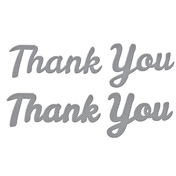 S3-392 Spellbinders BOLD TYPE THANK YOU Etched Dies*
