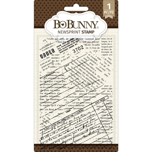 BoBunny NEWSPRINT Clear Stamps 7311085 Preview Image