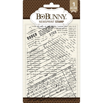 BoBunny NEWSPRINT Clear Stamps 7311085