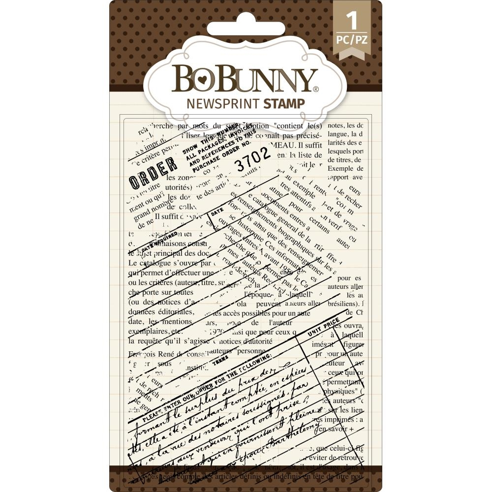 BoBunny NEWSPRINT Clear Stamps 7311085 zoom image