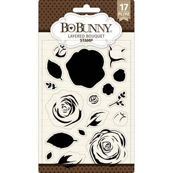 BoBunny LAYERED BOUQUET Clear Stamps 7311083