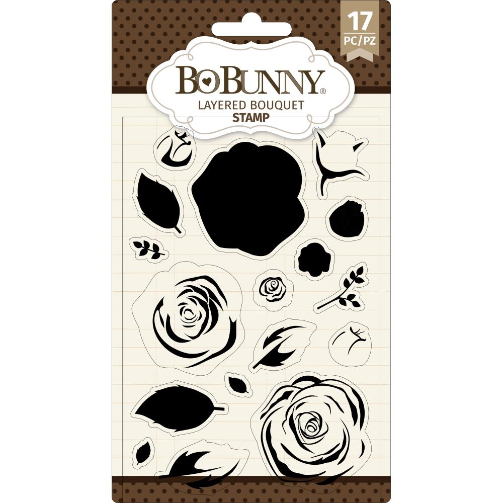 BoBunny LAYERED BOUQUET Clear Stamps 7311083 zoom image