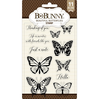 BoBunny BEAUTIFUL BUTTERFLIES Clear Stamps 7311084