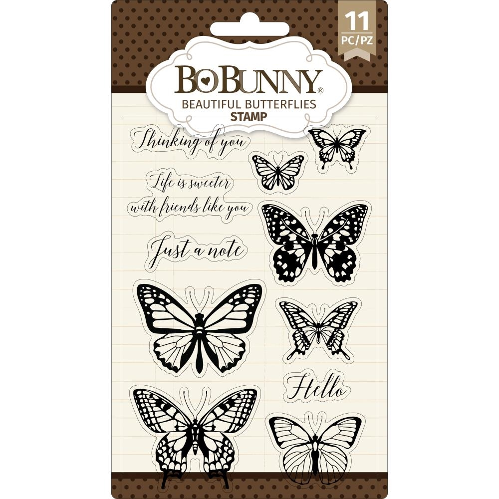 BoBunny BEAUTIFUL BUTTERFLIES Clear Stamps 7311084 zoom image