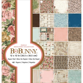 BoBunny FAMILY HEIRLOOMS COLLECTION 12 x 12 Paper Pad 7311019*