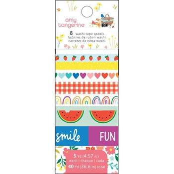 American Crafts Amy Tangerine WASHI TAPE SPOOLS Picnic In The Park 355386
