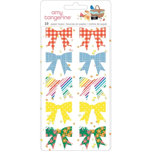 American Crafts Amy Tangerine PAPER BOWS STICKERS Picnic In The Park 355381 Preview Image