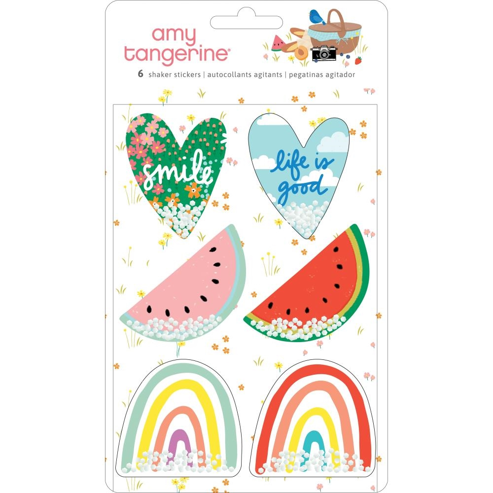 American Crafts Amy Tangerine SHAKER STICKERS Picnic In The Park 355385 zoom image