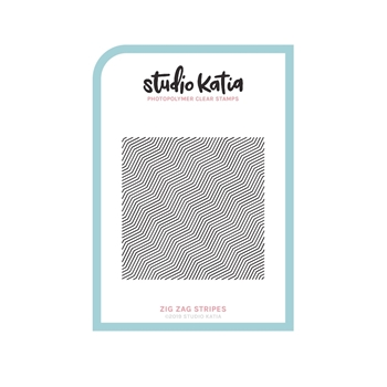 Studio Katia ZIG ZAG STRIPES Cling Stamps skcs109*