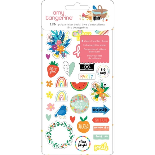American Crafts Amy Tangerine STICKER BOOK Picnic In The Park 355378 Preview Image