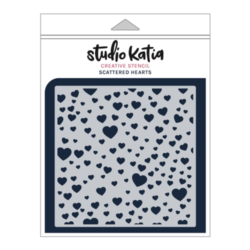 Studio Katia SCATTERED HEARTS Stencil sks026 Preview Image