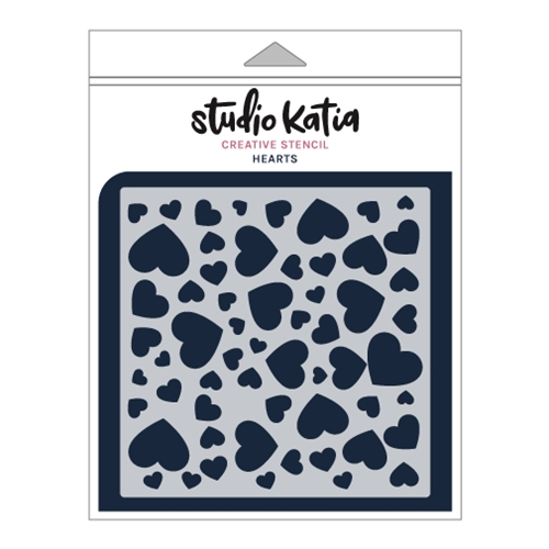 Studio Katia HEARTS Stencil sks027 Preview Image