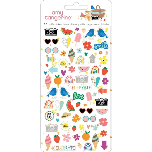 American Crafts Amy Tangerine MINI PUFFY STICKERS Picnic In The Park 355376 Preview Image