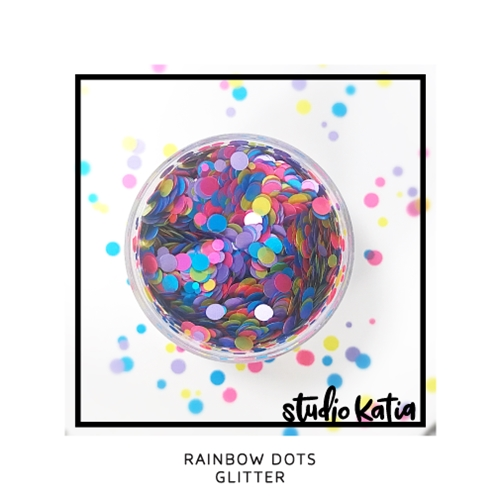 Studio Katia RAINBOW DOTS Glitter sk2016 Preview Image