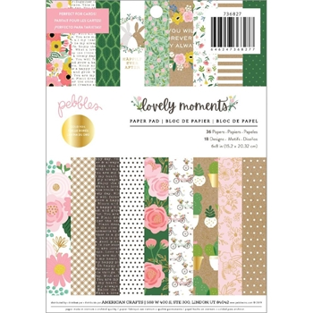 Pebbles Inc. LOVELY MOMENTS 6x8 Inch Paper Pad 736809