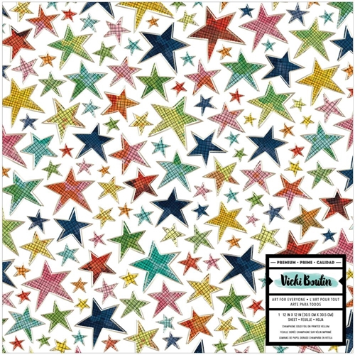 American Crafts Vicki Boutin Foil Accent On Acetate 12x12 Inch LET'S WANDER 355313 Preview Image
