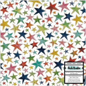 American Crafts Vicki Boutin Foil Accent On Acetate 12x12 Inch LET'S WANDER 355313