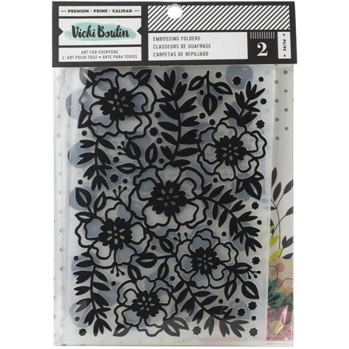 American Crafts Vicki Boutin Mixed Meida EMBOSSING FOLDERS 354113  Preview Image