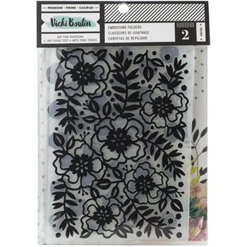 American Crafts Vicki Boutin Mixed Meida EMBOSSING FOLDERS 354113
