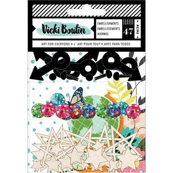 American Crafts Vicki Boutin Let's Wander EMBELLISHMENT PACK 355340