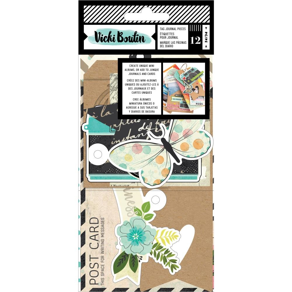 American Crafts Vicki Boutin Let's Wander TAG JOURNAL PIECES 355341 zoom image