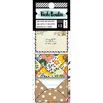 American Crafts Vicki Boutin Let's Wander MINI CARDS AND ENVELOPES 355332*