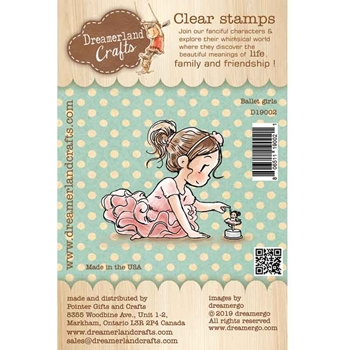 Dreamerland Crafts BALLET GIRLS Clear Stamp Set d19002