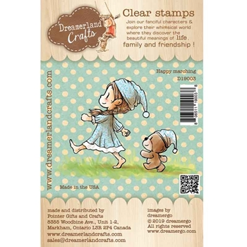 Dreamerland Crafts HAPPY MARCHING Clear Stamp Set d19003
