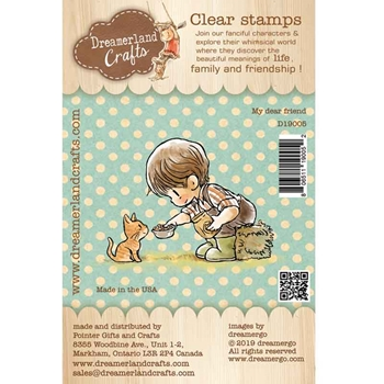 Dreamerland Crafts MY DEAR FRIEND Clear Stamp Set d19005