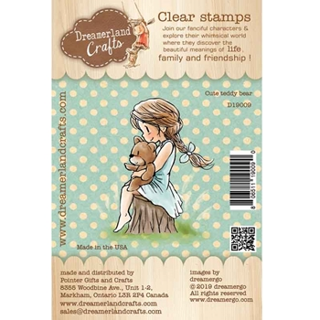 Dreamerland Crafts CUTE TEDDY BEAR Clear Stamp Set d19009
