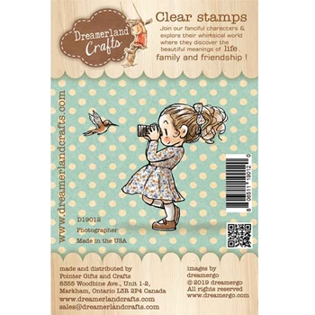Dreamerland Crafts PHOTOGRAPHER Clear Stamp Set d19012