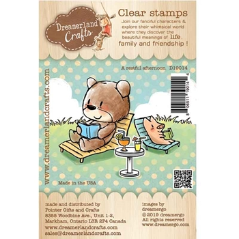 Dreamerland Crafts A RESTFUL AFTERNOON Clear Stamp Set d19014