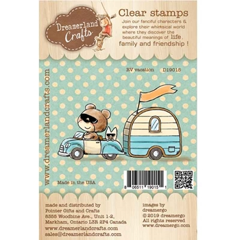 Dreamerland Crafts RV VACATION Clear Stamp Set d19015