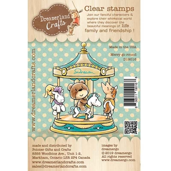 Dreamerland Crafts MERRY GO ROUND Clear Stamp Set d19016