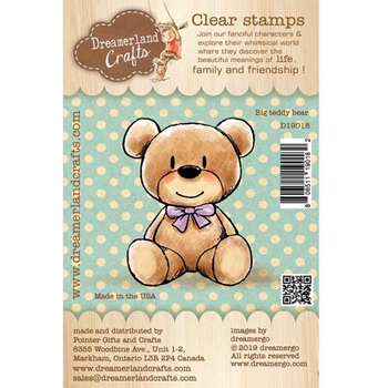 Dreamerland Crafts BIG TEDDY BEAR Clear Stamp Set d19018