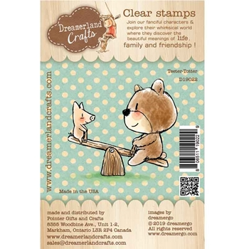 Dreamerland Crafts TEETER TOTTER Clear Stamp Set d19022