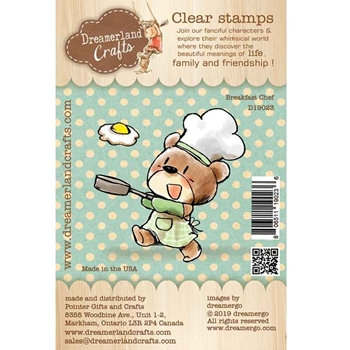 Dreamerland Crafts BREAKFAST CHEF Clear Stamp Set d19023