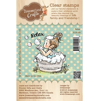 Dreamerland Crafts RELAX Clear Stamp Set d19029
