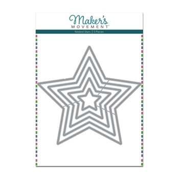 Maker's Movement NESTED STARS Die Set mod284