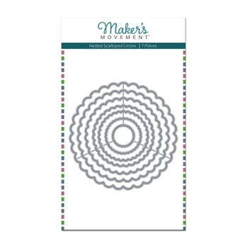 Maker's Movement NESTED SCALLOPED CIRCLES Die Set mod288