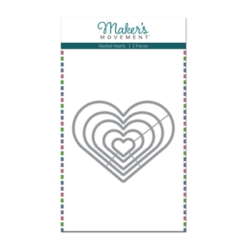 Maker's Movement NESTED HEARTS Die Set mod289
