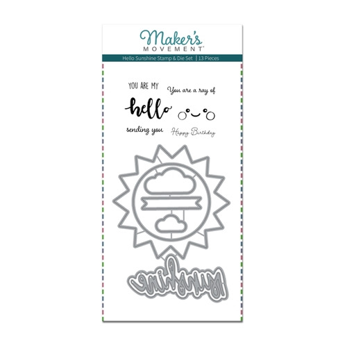 Maker's Movement HELLO SUNSHINE Stamp And Die Set msd215 Preview Image